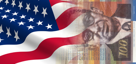 The concept of economic and political relationships the United States with Israel. Stock Photo