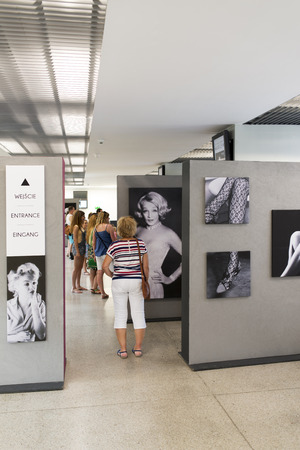 milton: An exhibition of photographs Milton H. Greens Good Morning Marilyn on 19 July 2015 in Wroclaw, Poland. The photos were bought at auction by DESA to Wroclaw Enterprise Hall of the People.
