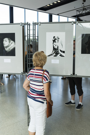marilyn: An exhibition of photographs Milton H. Greens Good Morning Marilyn on 19 July 2015 in Wroclaw, Poland. The photos were bought at auction by DESA to Wroclaw Enterprise Hall of the People.