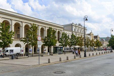 krakowskie przedmiescie: Central Agricultural Library at Krakowskie Przedmiescie Street on 16 September 2015 in Warsaw, Poland. Editorial