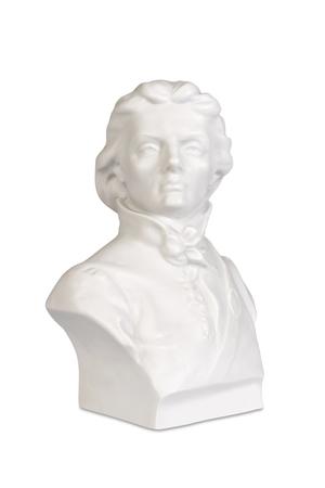 american hero: Sculpture bust of Polish and American hero Tadeusz Kosciuszko.