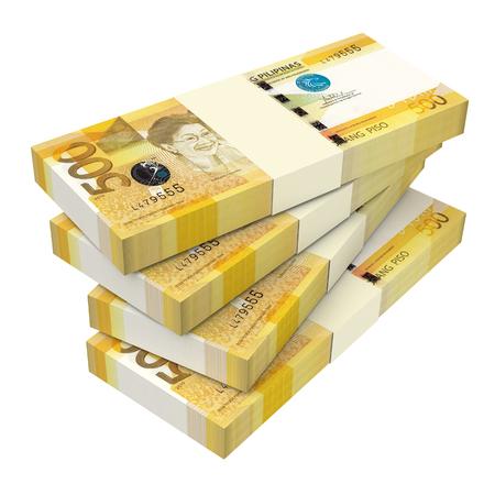 signo de pesos: Dinero Filipinas aislado sobre fondo blanco. Generado por ordenador 3d de fotos.