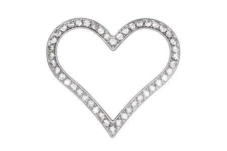 Silver Heart Picture Frame Isolated On White Stock Photo, Picture ...