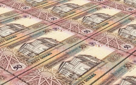 arabic currency: Jordan dinars bills stacked background. Computer generated 3D photo rendering.