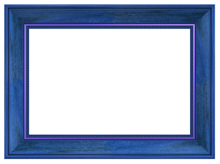 wood carving 3d: Picture frame isolated on white background. Computer generated 3D photo rendering.