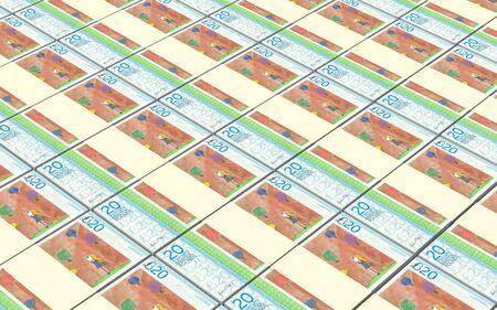 bristol: Bristol pound bills stacked background. Stock Photo
