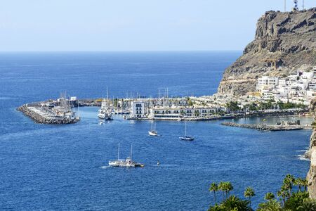 canarian: View of Puerto de Mogan in Gran Canaria Island, Spain.