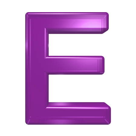 similar images: Save to preview and lightbox Share Find Similar Images Stock Photo: One letter from purple glass alphabet set, isolated on white. Computer generated 3D photo rendering.