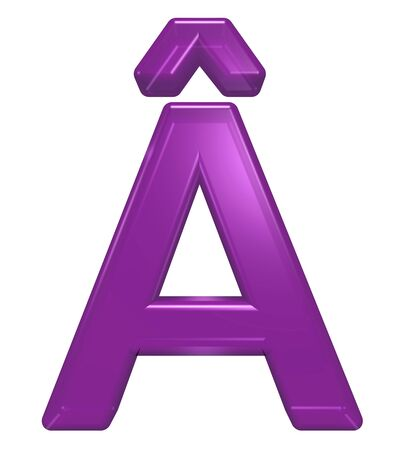 Save to preview and lightbox Share Find Similar Images Stock Photo: One letter from purple glass alphabet set, isolated on white. Computer generated 3D photo rendering.