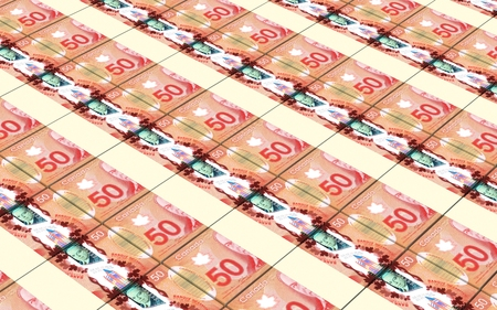 canadian dollar: Canadian dollar bills stacked background. Computer generated 3D photo rendering.