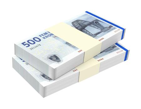 couronne danoise isolé sur fond blanc généré par ordinateur photo rendu 3D