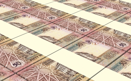 laundered: Jordan dinars bills stacked background. Computer generated 3D photo rendering.