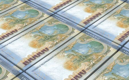 armenian: Armenian drams bills stacked background. Computer generated 3D photo rendering.