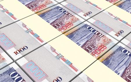 haitian: Haitian gourde bills stacked background. Computer generated 3D photo rendering. Stock Photo