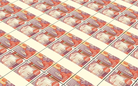 somalian: Somalian shilings bills stacked background. Computer generated 3D photo rendering. Stock Photo