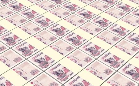 algerian: Algerian dinar bills stacked background. Computer generated 3D photo rendering. Stock Photo
