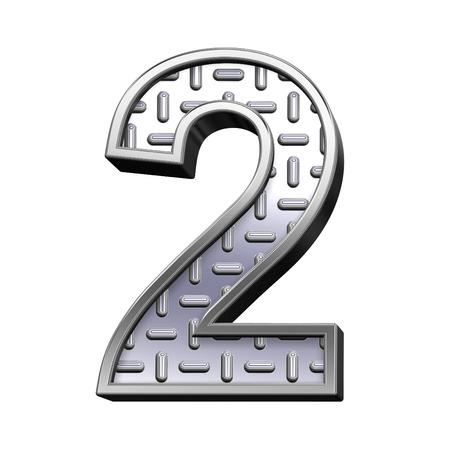 rodamiento: Un d�gito de acero de rodadura conjunto de alfabeto de placa, aislado en blanco. Procesamiento de fotos 3D generados por ordenador.