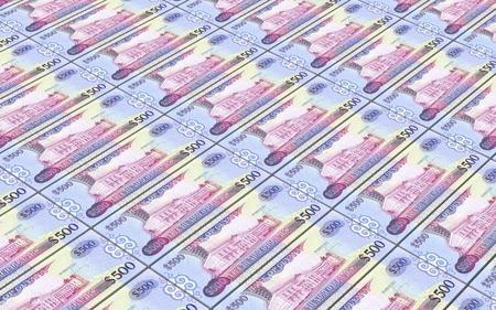 guyanese: Guyanese dollars bills stacks background. Computer generated 3D photo rendering.