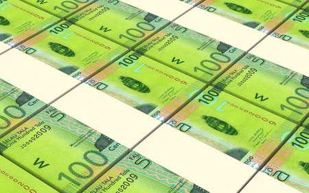papermoney: Samoan tala bills stacks background. Computer generated 3D photo rendering
