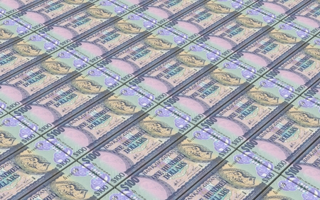 guyanese: Guyanese dollars bills stacks background. 3D illustration.