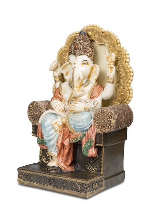 new beginnings: Figurine of Hindu god of wisdom, knowledge and new beginnings Ganesha