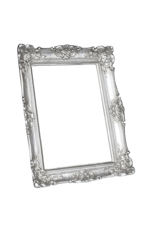 silver frame: Silver picture frame isolated