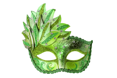 Carnival Venetian mask isolated on white