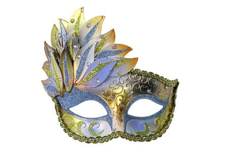 Carnaval Venetiaanse masker geïsoleerd op witte achtergrond