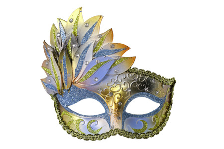 Carnival Venetian mask isolated on white background