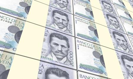 Colombian pesos bills stacks background. 3D illustration. Stock Photo