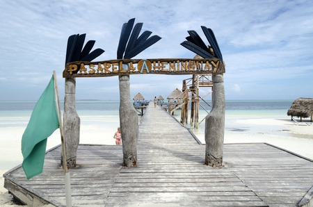 hemingway: Pasarela Hemingway dock in Cayo Guillermo - Ciego de Avila Province, Cuba.