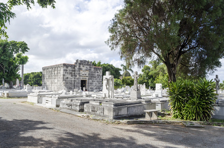 cristobal colon: The Colon Cemetery in Vedado on 29 November 2015 in Havana, Cuba. Colon Cemetery is the 5th most important historical cemetery of the world.
