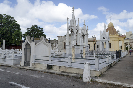 The Colon Cemetery in Vedado on 29 November 2015 in Havana, Cuba. Colon Cemetery is the 5th most important historical cemetery of the world.