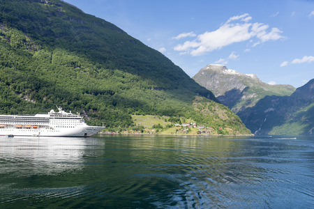 natural landmark: Geirangerfjord - famous natural landmark in Norway.