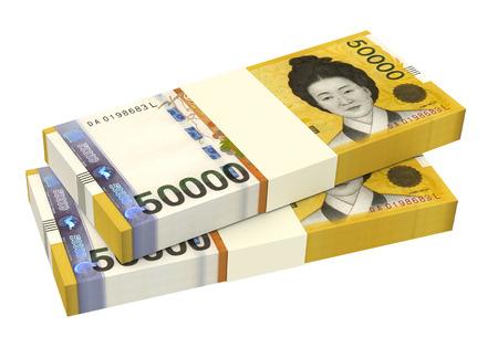 韓国語は、白い背景で隔離の手形を獲得しました。3 D イラスト。
