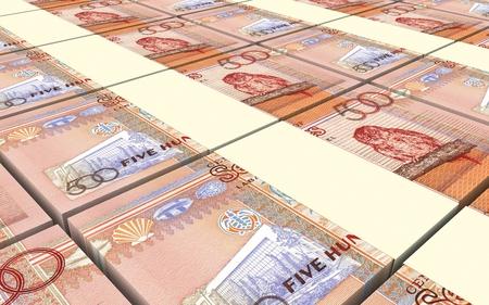 seychelles: Seychelles rupee bills stacks background. 3D illustration. Stock Photo