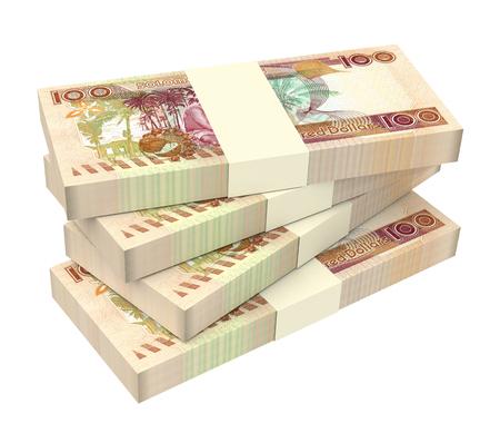 batch of dollars: Solomon Islands dollar bills stack isolated on white background. 3D illustration.