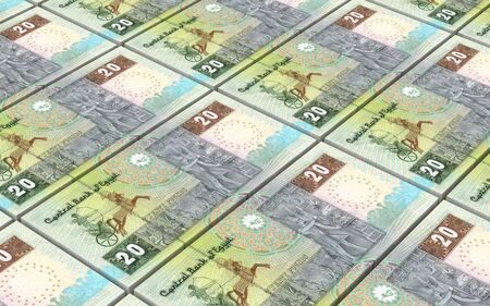 pounds: Egyptian pounds bills stacks background. 3D illustration. Stock Photo