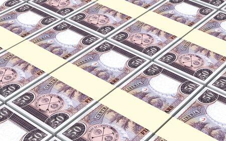 batch of dollars: Liberian dollar bills stacks background. 3D illustration. Stock Photo