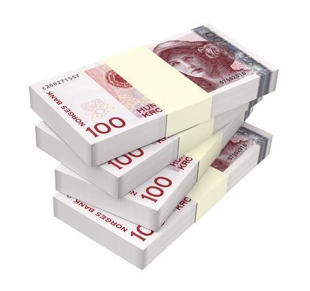 norwegian: Norwegian krone isolated on white background. 3D Illustration. Stock Photo