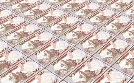 reserve: Vanuatu vatu bills stacked background. 3D illustration. Stock Photo