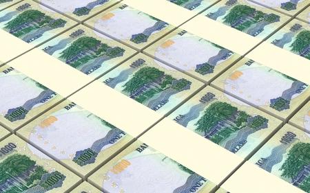 jamaican: Jamaican dollar bills stacks background. 3D illustration Stock Photo