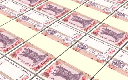 leu: Moldovan leu bills stacks background. 3D illustration. Stock Photo