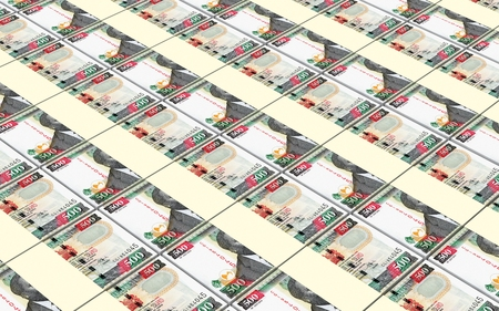 prespective: Kenyan shillings bills stacks background. 3D illustration