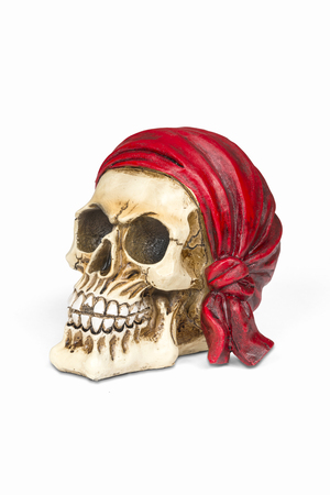 Pirate skull isolated over white with clipping path.