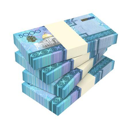 papermoney: Turkmenistan money bills stack isolated on white background. 3D illustration.
