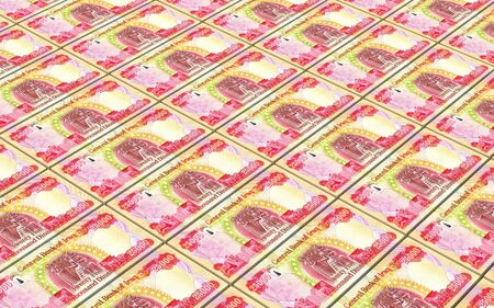 dinar: Iraqi dinars bills stacked background. 3D illustration.