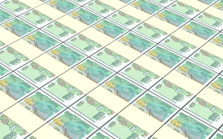 Bulgarian lev bills stacks background. 3D illustration.