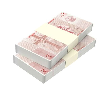 dram: Nagorno Karabakh dram bills isolated on white background. 3D illustration. Stock Photo