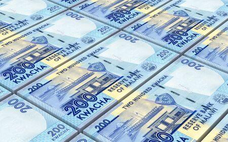 cash money: Malawi kwacha bills stacked background. 3D illustration. Stock Photo